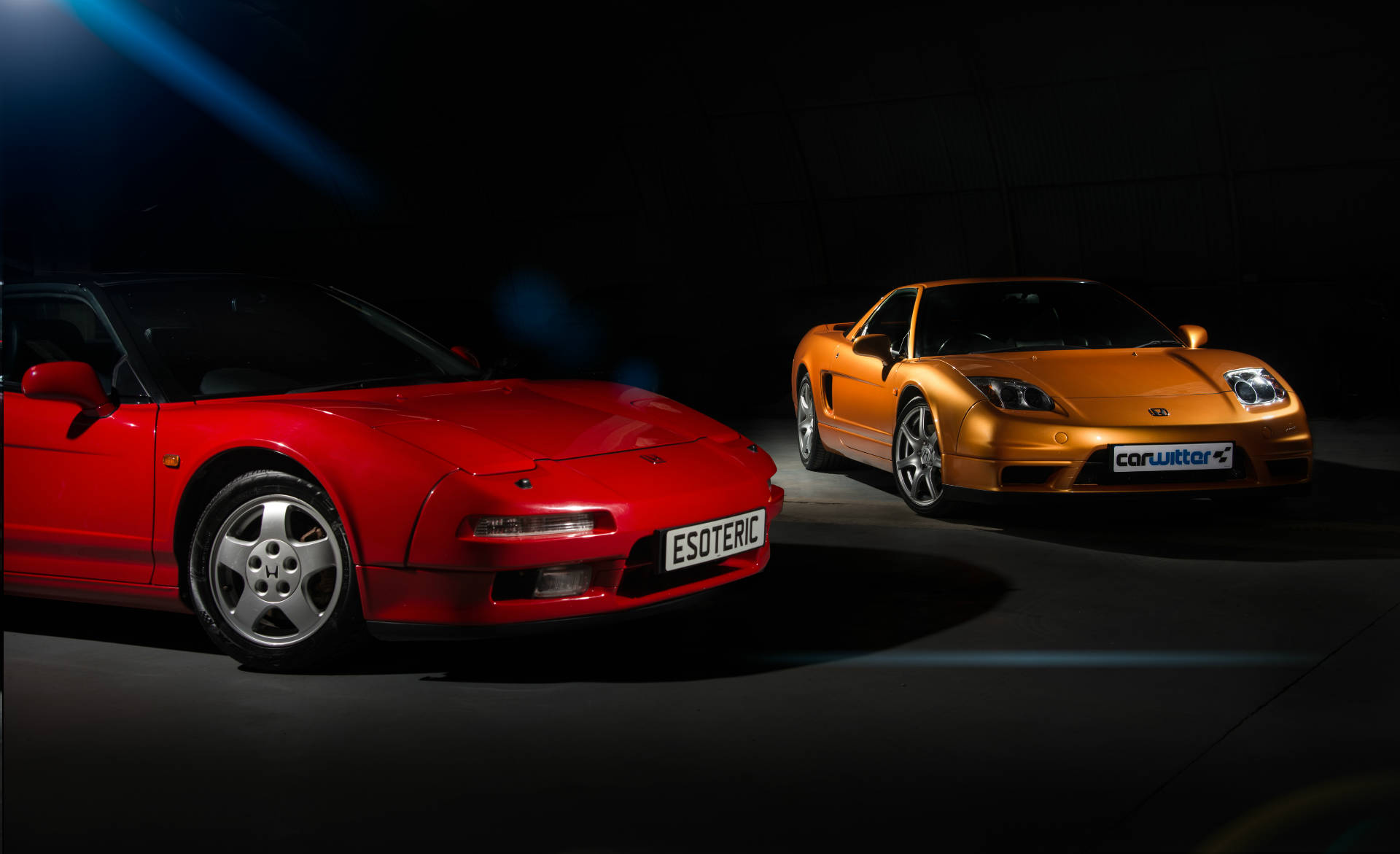 2005-Honda-NSX-Imola-Orange-1991-Honda-NSX-Formula-Red-Dark-Shoot-carwitter