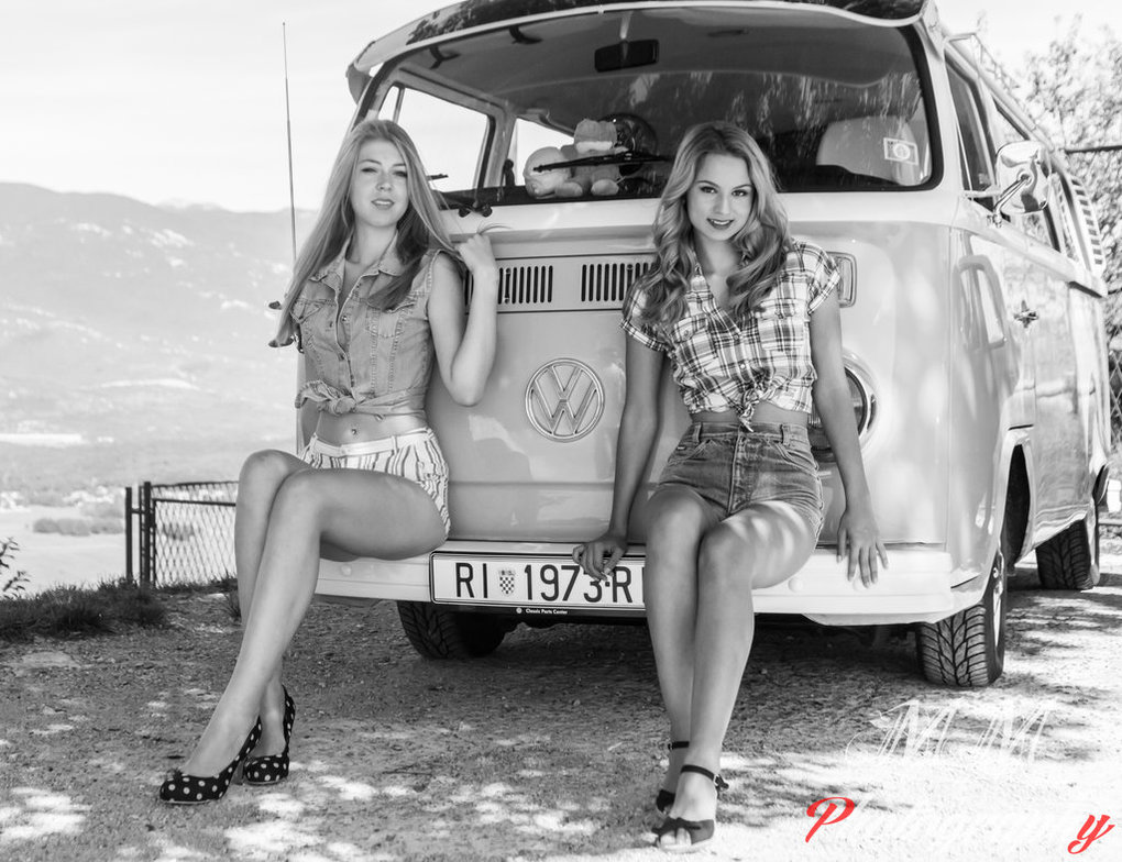 pinup_natali_de_thul_and_ivana_with_vw_t2_camper_by_cikn-d869y2c